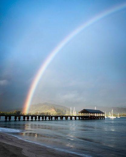 B3332D - Burt, Daniel - Rainbows at Hanalei II