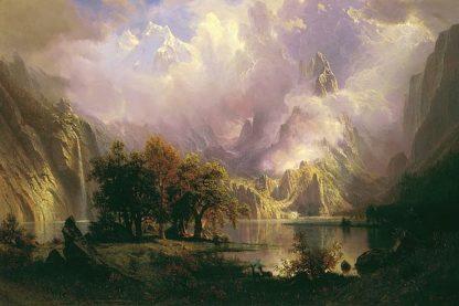 B3349D - Bierstadt, Albert - Rocky Mountain Landscape