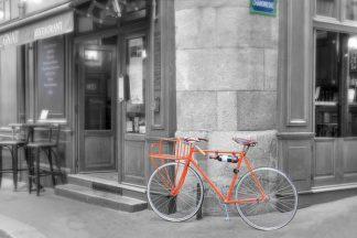 B3418D - Blaustein, Alan - Orange Bicyclette