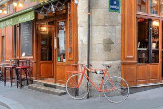 B3419D - Blaustein, Alan - Orange Bicycle, Paris