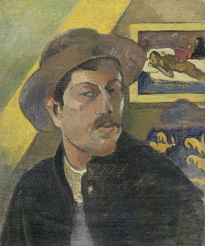 G799D - Gauguin, Paul - Self Portrait with a Hat