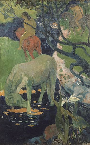 G804D - Gauguin, Paul - The White Horse