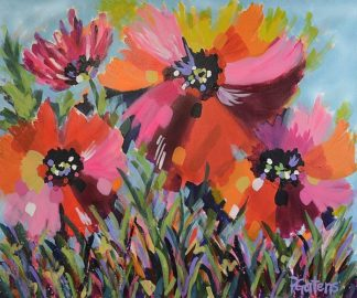 G868D - Gatens, Pamela - Red Poppy Field
