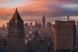 G884D - Getty, Bruce - Golden Light New York Low Clouds