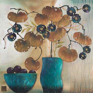 H629D - Hughlock, Margaret - Raku Bowl and Vase