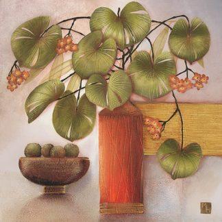 H632D - Hughlock, Margaret - Passion Fruit and Vase