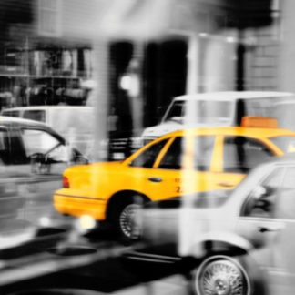 IN30833 - PhotoINC Studio - Yellow Taxi Reflection