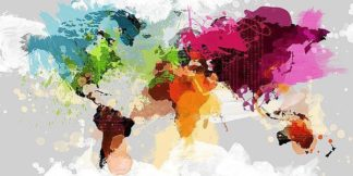 IN31852 - GraphINC - Colourful World Map