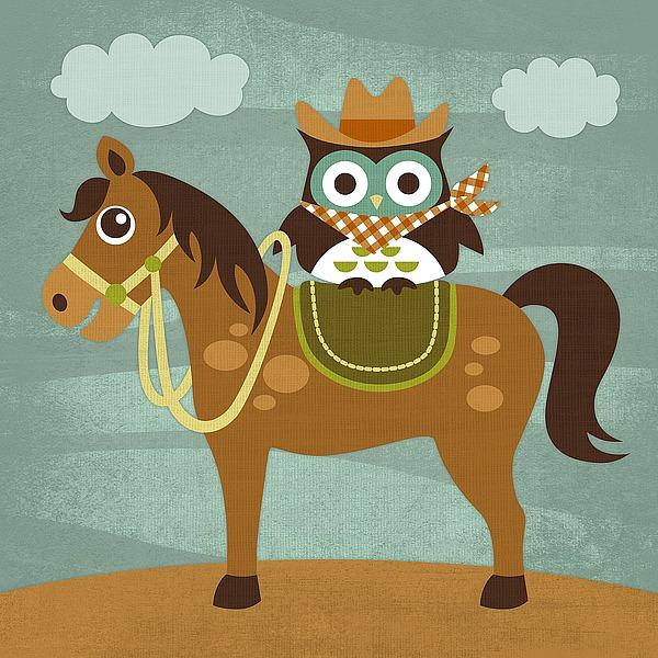 L605D - Lee, Nancy - Cowboy Owl on Horse