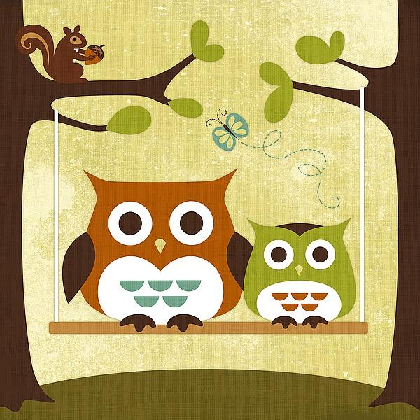L606D - Lee, Nancy - Two Owls on Swing