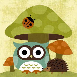 L608D - Lee, Nancy - Owl and Hedgehog