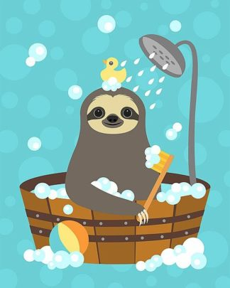 L820D - Lee, Nancy - Bathing Sloth