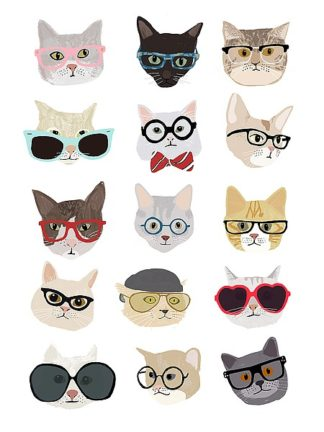 M1221D - Melin, Hanna - Cats with Glasses