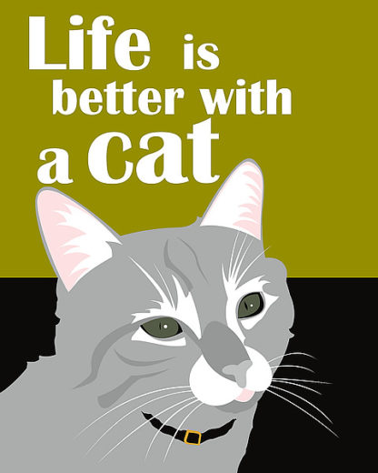 O162D - Oliphant, Ginger - Life is Better with a Cat