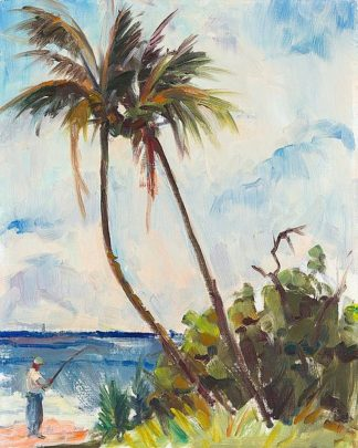 R1108D - Rodgers, Richard A. - Fishing under Palms