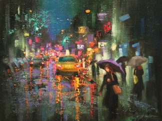 S1493D - Shin, Chin H. - Night Rain in Village
