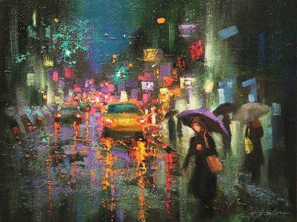 S1493D - Shin, Chin H. - Night Rain in Village