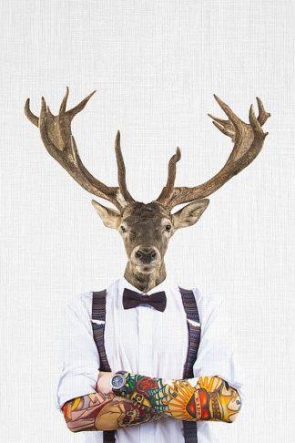 T559D - Tai Prints - Deer Man