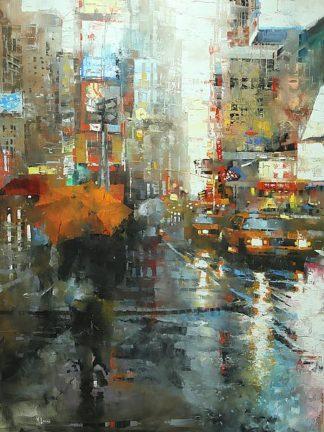 L894D - Lague, Mark - Manhattan Orange Umbrella