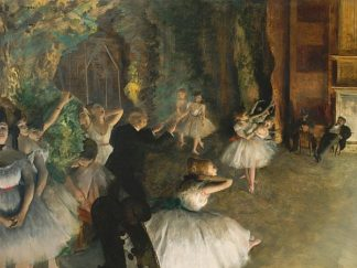 D1078D - Degas, Edgar - The Rehearsal of the Ballet Onstage