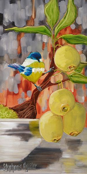A491D - Aguilar, Stephanie - Chickadee With Bonsai