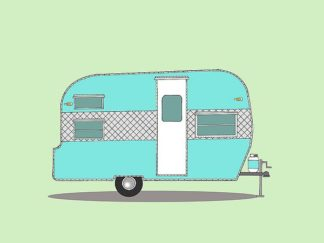 A505D - Annie Bailey Art - Frolic Camper