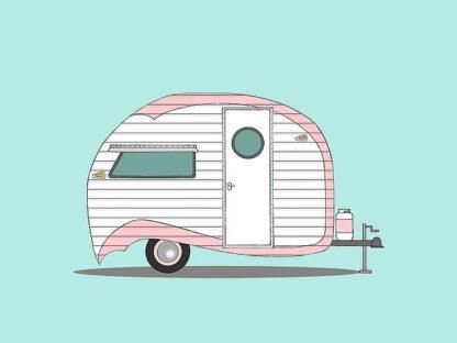 A507D - Annie Bailey Art - Pink Stripe Teardrop