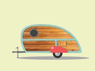 A509D - Annie Bailey Art - Teardrop Camper
