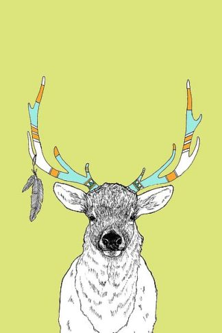 A526D - Annie Bailey Art - Elk & Feathers