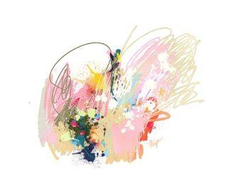 C1212D - Christine, Niya - Pink Abstract