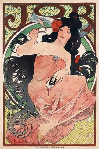M1575D - Mucha, Alphonse - Job - Cigarette Rolling Papers Advertisement