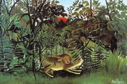 R1192D - Rousseau, Henri - The Hungry Lion