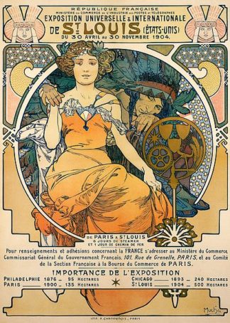 M1596D - Mucha, Alphonse - 1904 St. Louis World's Fair Poster
