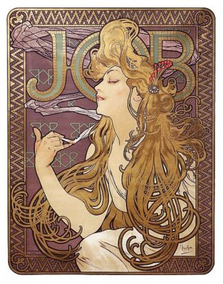 M1599D - Mucha, Alphonse - Job Cigarette Rolling Papers Advertisement, 1897