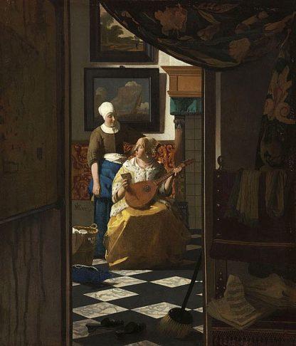 V696D - Vermeer, Johannes - The Love Letter