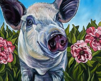 W1007D - Wronski, Kathryn - Pigs and Peonies