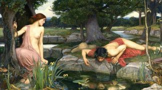 W983D - Waterhouse, John William - Echo and Narcissus, 1903