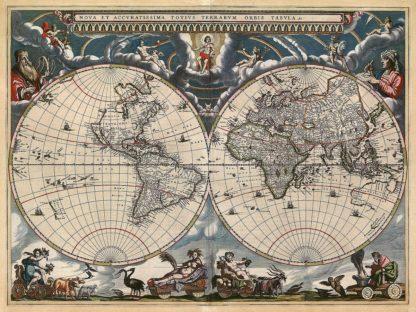 B3115D - Blaeu, Joan - Nova et Accuratissima Totius Terrarum Orbis Tabula